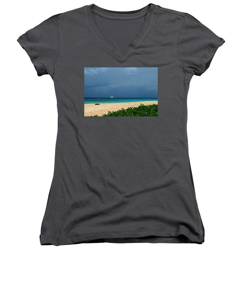 Sail Away Women's V-Neck (Athletic Fit)