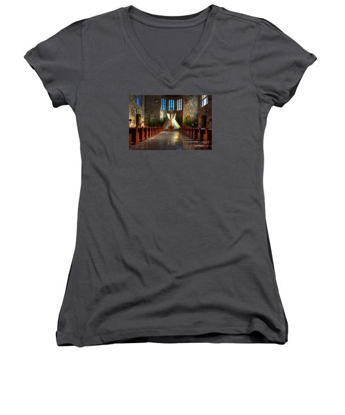 Saint Josephs Apache Mission Women's V-Neck T-Shirt