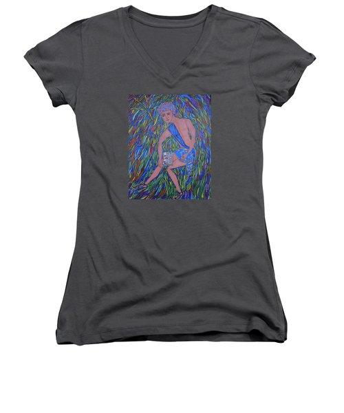 Saint Mark Women's V-Neck T-Shirt (Junior Cut) by Marie Schwarzer