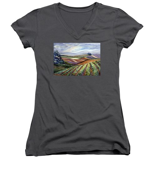 Salinas Tapestry Women's V-Neck T-Shirt