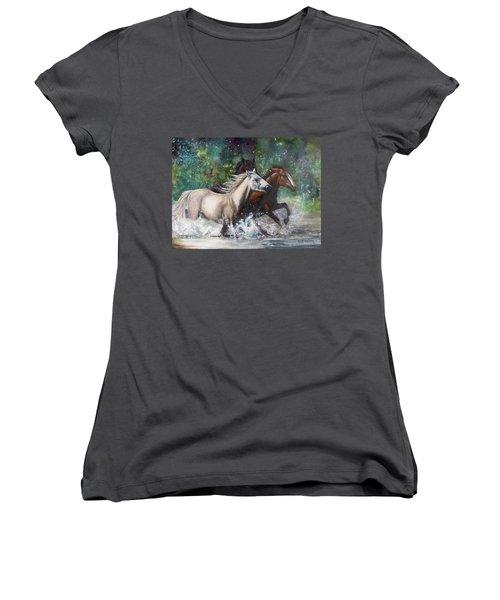 Salt River Horseplay Women's V-Neck T-Shirt