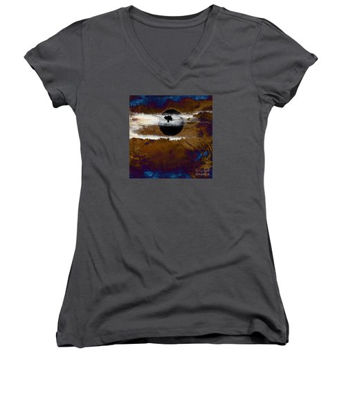 Samhain I. Winter Approaching Women's V-Neck T-Shirt (Junior Cut) by Paul Davenport