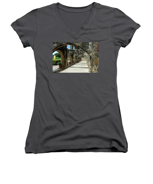 San Antonio Mission Arches Women's V-Neck