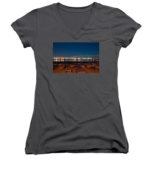 San Diego Bridge  Women's V-Neck