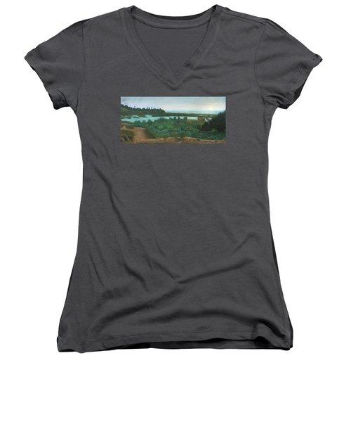 San Elijo Lagoon Women's V-Neck T-Shirt