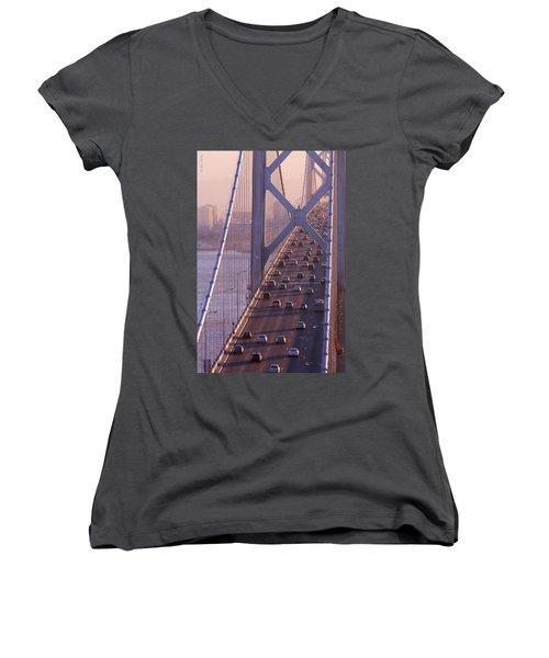 San Francisco Bay Bridge Women's V-Neck