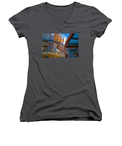San Francisco Childrens Museum Women's V-Neck T-Shirt (Junior Cut)