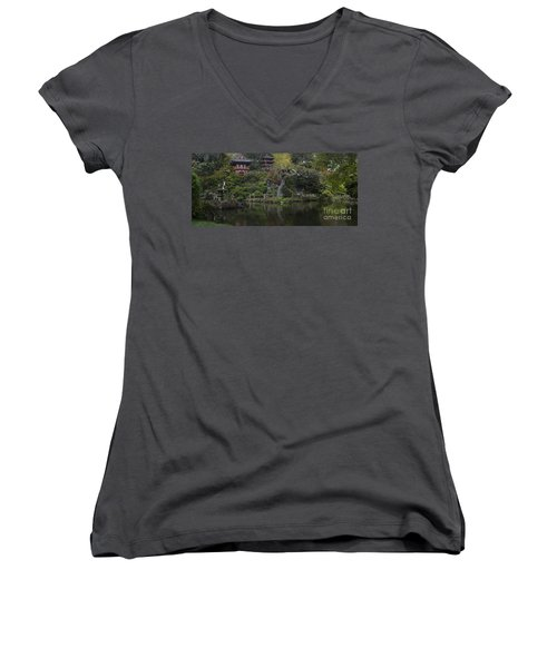 San Francisco Japanese Garden Women's V-Neck T-Shirt