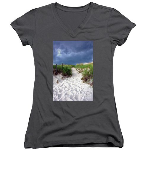 Sand Dune Under Storm Women's V-Neck (Athletic Fit)