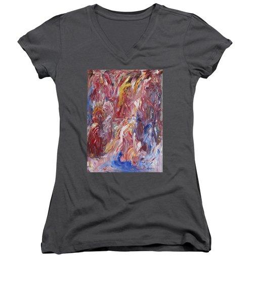 Sanguis Chorea Women's V-Neck T-Shirt