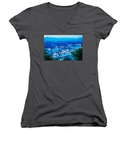 Scenics Around Mill Mountain Roanoke Virginia Usa Women's V-Neck