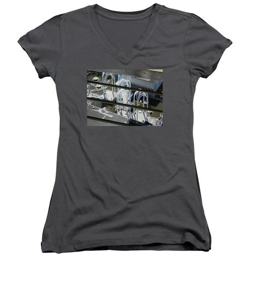 Science From The Top Women's V-Neck T-Shirt (Junior Cut) by David Trotter