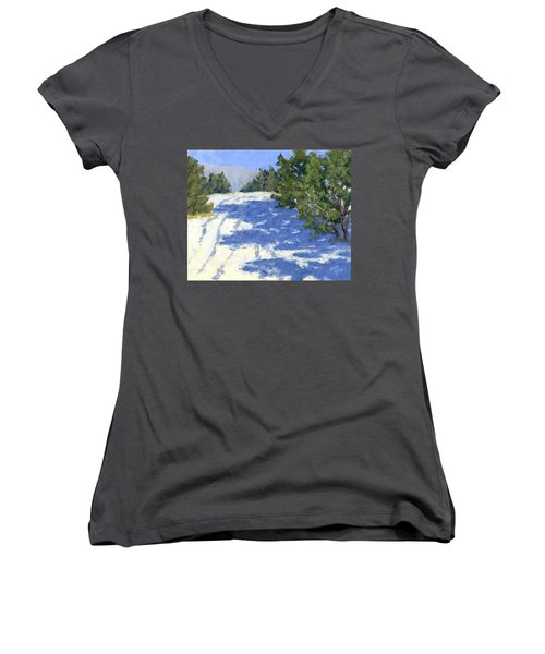 Scrub Oak Shadows Women's V-Neck T-Shirt