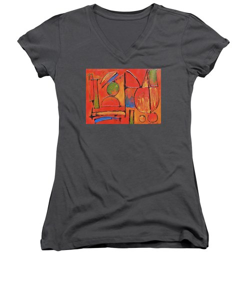 Searching For My Soul Women's V-Neck T-Shirt (Junior Cut) by Jason Williamson