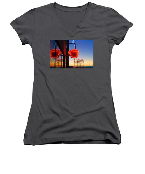 Seattle Coffee Women's V-Neck