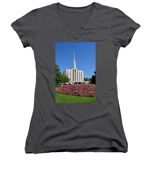 Seattle Temple Women's V-Neck (Athletic Fit)