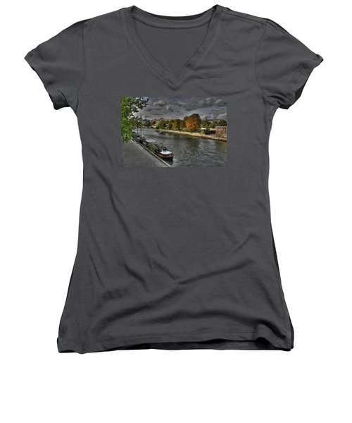 Seine Study Number One Women's V-Neck (Athletic Fit)