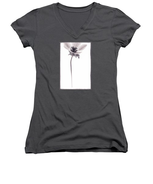 Women's V-Neck T-Shirt (Junior Cut) featuring the photograph Sepia And Sharp by Caitlyn  Grasso