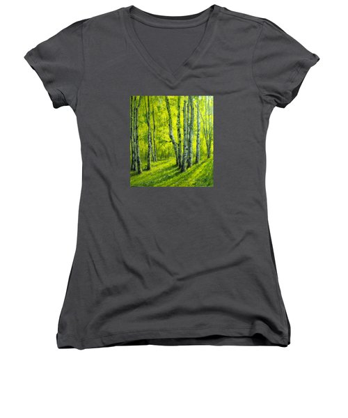 September In The Woods Women's V-Neck T-Shirt