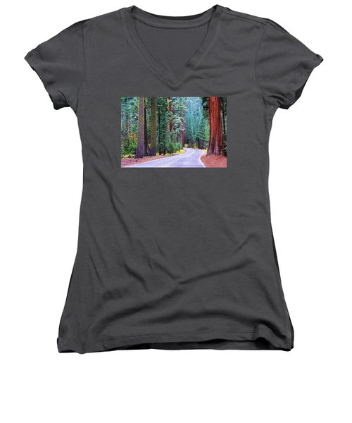 Sequoia Hwy Women's V-Neck