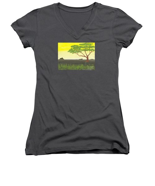 Serengeti Women's V-Neck T-Shirt