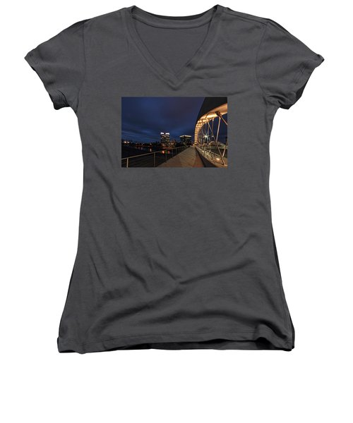 Seventh Avenue Bridge Fort Worth Women's V-Neck (Athletic Fit)