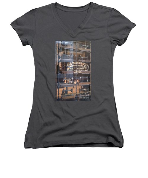 Women's V-Neck T-Shirt (Junior Cut) featuring the photograph Sew What by Carol Lynn Coronios
