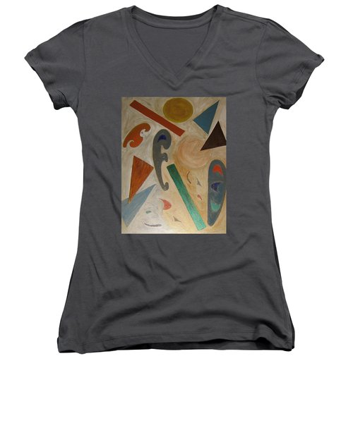 Shapes Women's V-Neck T-Shirt