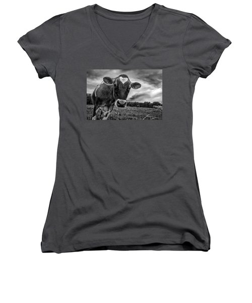 She Wears Her Heart For All To See Women's V-Neck