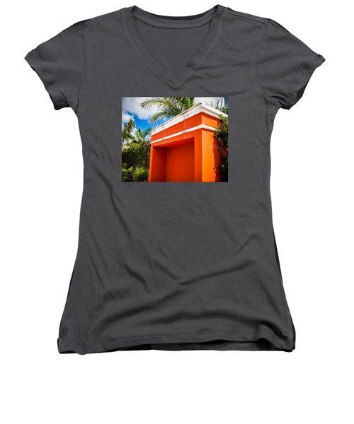 Shelter Orange Women's V-Neck T-Shirt