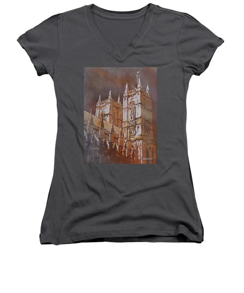 Shining Out Of The Rain Women's V-Neck T-Shirt (Junior Cut) by Jenny Armitage