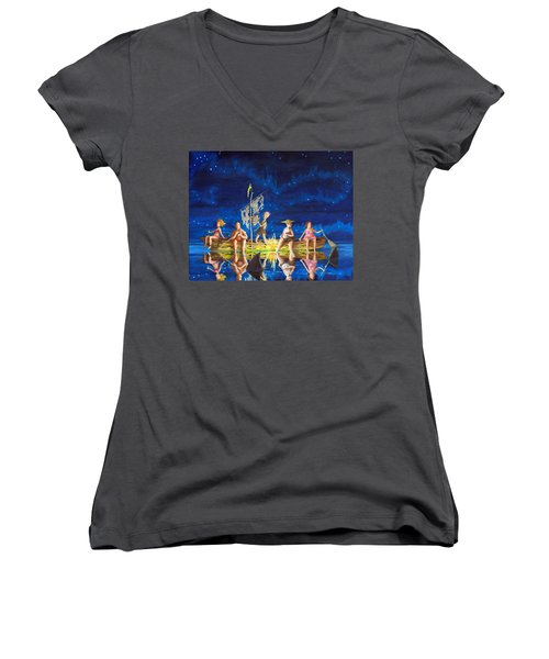 Ship Of Fools Women's V-Neck (Athletic Fit)