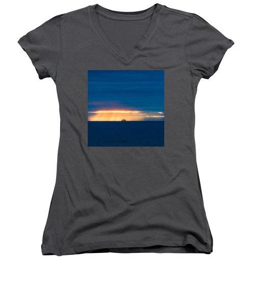 Ship On The Horizon Women's V-Neck T-Shirt