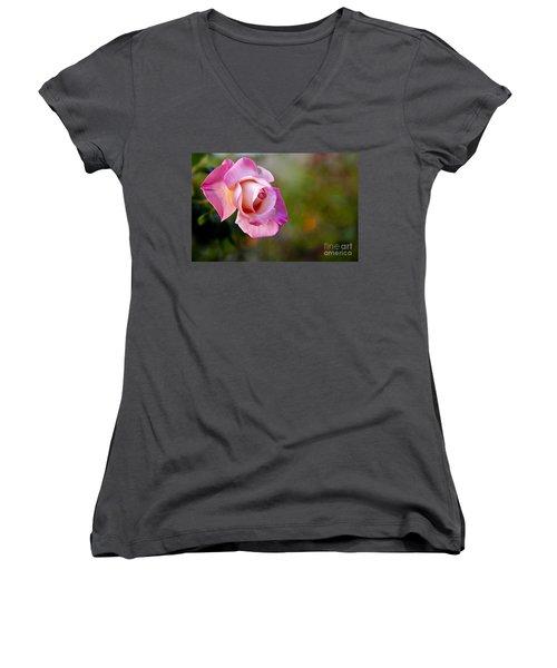 Women's V-Neck T-Shirt (Junior Cut) featuring the photograph Short Lived Beauty by David Millenheft