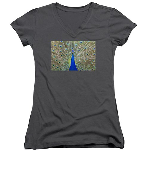 Women's V-Neck T-Shirt (Junior Cut) featuring the pyrography Showing Off by Shoal Hollingsworth