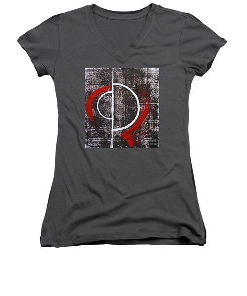 Shumatsu - Ron - Tekina Women's V-Neck T-Shirt (Junior Cut) by Roberto Prusso