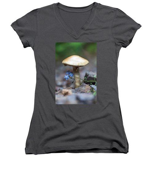 Shy Women's V-Neck T-Shirt (Junior Cut) by Aaron Aldrich
