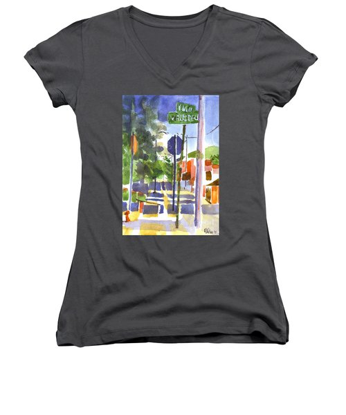 Sign Posts Women's V-Neck