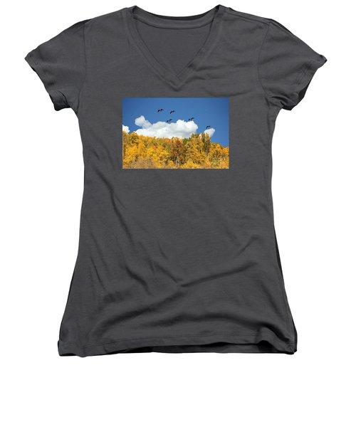 Signs Of The Season Women's V-Neck T-Shirt (Junior Cut) by Bob Hislop