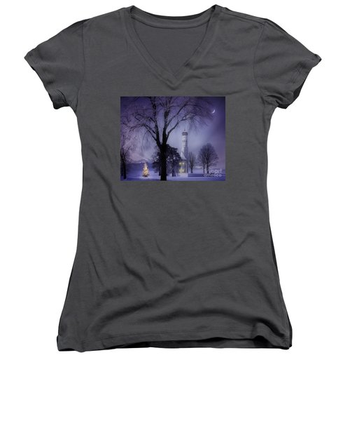 Silent Night Women's V-Neck