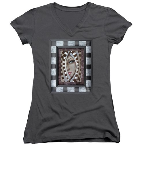 Silver Memories 220414 Framed Women's V-Neck