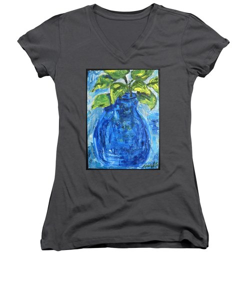 Simple Greens Women's V-Neck (Athletic Fit)