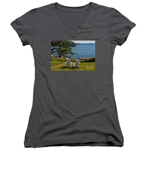Sitting Pretty Women's V-Neck T-Shirt