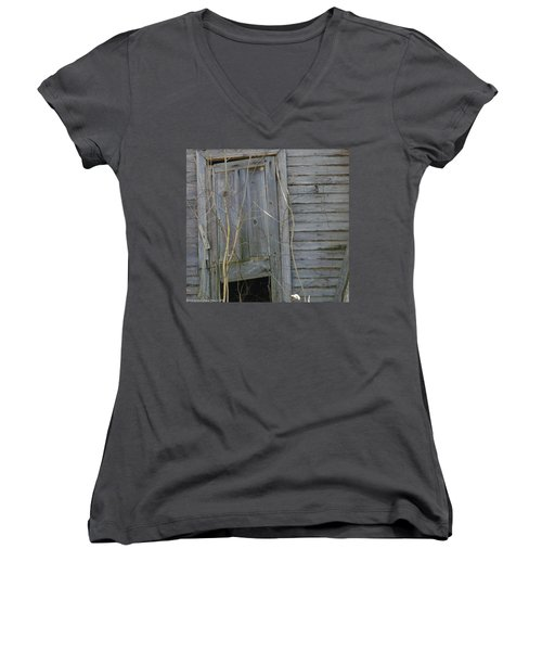 Women's V-Neck T-Shirt (Junior Cut) featuring the photograph Skewed by Nick Kirby