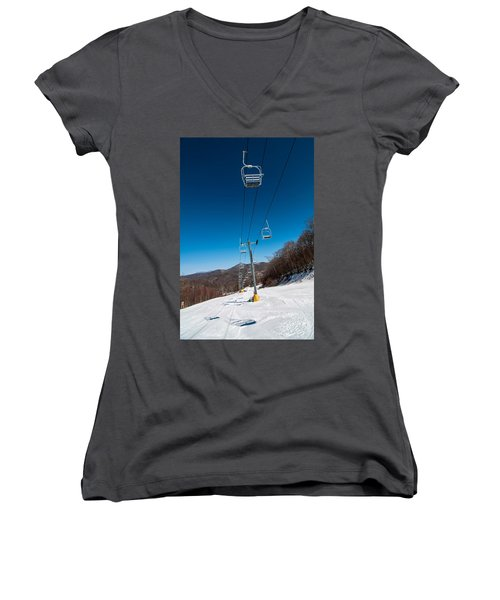 Ski Lift Women's V-Neck