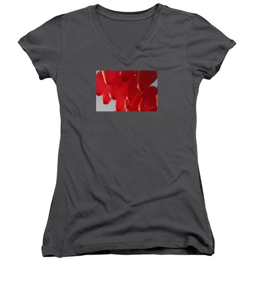 Women's V-Neck T-Shirt (Junior Cut) featuring the photograph Skc 0029 Unity In Flying by Sunil Kapadia