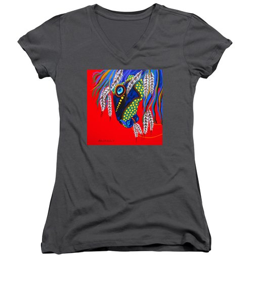 Sky Spirit Women's V-Neck T-Shirt