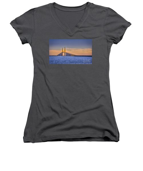 Skyway Bridge Women's V-Neck T-Shirt