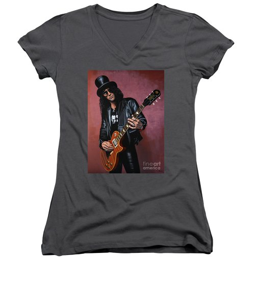 Slash Women's V-Neck T-Shirt