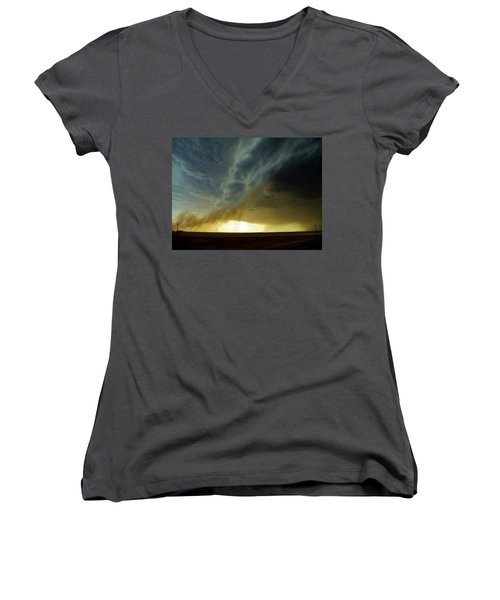 Smoke And The Supercell Women's V-Neck T-Shirt